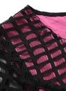Vintage Plaid Hollow Out O Neck Short Sleeve Slim A-Line Mini Dress