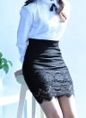 Elastic High Waist Hollow Out Crochet Lace Mini Black Skirt
