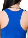 Casual Cor sólida O Neck mangas Stretchy Bodycon Mini vestido azul