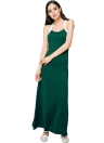 Casual Solid Spaghetti Strap Sleeveless Maxi Summer Dress