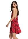 Nouveau Femmes Sexy en mousseline de soie Mini Slip Dress Spaghetti Strap dos ouvert sans manches en vrac Casual Elégant Parti robe rouge / bleu foncé