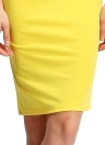 Sexy Lace Splice Cut Out Back Slim Sleeveless Bodycon Yellow Mini Dress