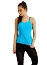 Новая мода Женщины Спорт Vest Спагетти ремень проложенный верхней части бака Йога Фитнес-центр Бег Топ