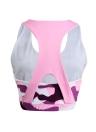 New Women Sexy Crop Top Vest Camo Imprimer Backless O-Neck Fitness Casual Yogo Outdoor Gym Sports Tee Noir / Rose