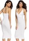 Vestido ajustado de las mujeres dobles correas espaguetis espalda cruzada partido de Clubwear de la envoltura sólida Vestido Negro / Blanco / Rojo