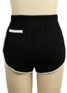Femmes Contraste Faux Poches Taille élastique Sports Shorts