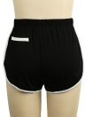 Women Contrast Fake Pockets Elastic Waist  Sports Shorts