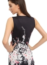 Floral Print Black Bodycon Dress