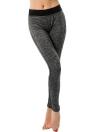 Skinny  Elastic Waist Gray Sport Pants
