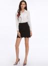 Elegant Scallop Hem Slim Lady Work Skirt