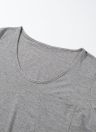 Casual Chest Pocket Plus Size T-shirt