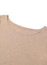 Solid Color O-Neck High-low Hem T-shirt