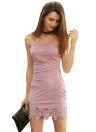 Sexy Crisscross Back Lacer Cut Hem Mini Dress