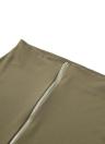 Nouveau Femmes Deux-Piece Set Encolure Retour fermeture à glissière Halterneck Crop Top Midi Jupe Set Blanc / Noir / Vert foncé