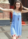 Sexy Scoop Tassel Trim Short Mini Dress