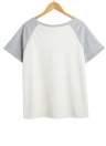 Femmes Sportswear Two Pieces Splicing poches Drawstring taille élastique T-Shirt Top Shorts Sport costume blanc