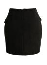 Lace Up - Mini-jupe moulante en daim à taille haute