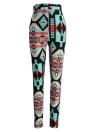 Mode-Frauen-Gamaschen-Kontrast-Farben-Druck Fitness Sports Hosen Stretchy geerntete Yoga-Hose