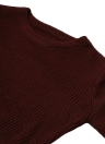 Solid O-Neck Long Sleeves Elegant Pullover Sweater