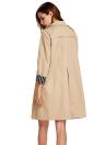 Midi Trench Pocket Long Sleeve Solid Color Blazer Coat