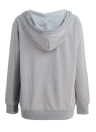 Deep V Neck Kangaroo Pocket Long Sleeve Loose Hoodies Pullover