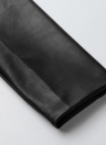 Women  Leather Side Zipper Rivet Jacket