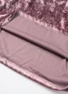 Женщины платье Бархатная Choker высоким горлом Кроссовер ремень Cut Out Назад рукавов Тонкий Sexy Club One-Piece