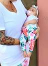 Polainas estampadas con estampado floral para niñas bebé Pantalón largo estampado con cintura elástica y cintura elástica