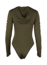 Femmes Sexy manches longues Zipper Hooded Body Combinaisons