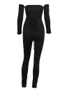 Sexy Off Shoulder Jumpsuit sin respaldo del vendaje Bodycon mono traje Catsuit