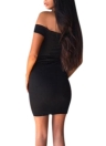 Sweetheart Off Shoulder Lace Up Eyelet Holes Bandage Bodycon Mini Clubwear