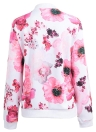 Blumendruck Mäntel Langarm Reißverschluss Bomberjacke Lässige Oberteil Streetwear