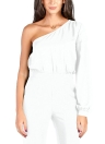 Jumpsuit Single Sleeve Un hombro Slim Fit Overalls Casual Playsuits Rompers