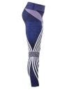 Femmes Sexy Stripe Print Sports Leggings Yoga Pantalon Entraînement Running Skinny Slim Collants de Fitness