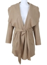 Jacket Coat Large Lapel Solid Overcoat Long Sleeve Pockets Casual Outerwear