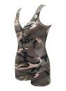 Sexy Frauen Camouflage Print Overall