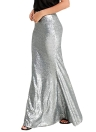 Femmes Jupes Paillettes Mermaid Maxi Long Party Jupe Cocktail