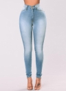 Pantalones de mezclilla Skinny Denim Jeans Classic de alta cintura para mujeres