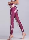 Sexy Femmes Mince Flora Imprimer Leggings Sport Yoga Maille Épissure Maigre Crayon Pantalon Pantalon
