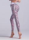 Femmes Sport Yoga Leggings Contraste Couleur Stripe Géométrique Fitness Gym Running Pantalon Moulante