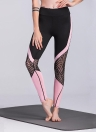 Las polainas del deporte de las mujeres de cintura alta del estiramiento flaco pantalones casuales de la yoga del gimnasio
