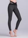Сексуальная женская спортивная йога Slim Leggings Splice Color Skinny Pencil Брюки Брюки
