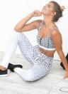 Женщины Спортивная Йога Леггинсы Leopard Печать Stretchy Skinny Bodycon Брюки Колготки Брюки