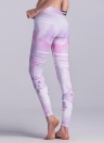 Женщины Спорт Йога Леггинсы Акварель Версия для печати Stretchy Skinny Bodycon Брюки Брюки