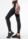 Женщины Спорт Йога Леггинсы Сплетение Цвет Stretchy Skinny Bodycon Брюки Брюки