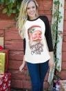 T-Shirt T-shirt da donna manica lunga 3/4 T-shirt manica lunga da donna