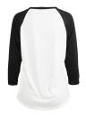 Mode Frauen Weihnachten Plus Size T-Shirt 3/4 Hülsen-beiläufige T-Stücke Tops