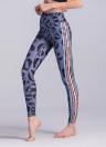 Женские спортивные поножи йоги Печать Stretchy Skinny Bodycon Колготки Брюки Брюки