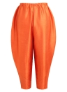 Mode Frauen Fried Chicken Lose Oversize Hose Orange