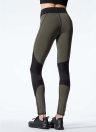 Sexy Frauen-Kontrast-Spleiß-Sport-Gamaschen-Yoga-laufende dünne dünne Strumpfhosen